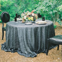 Glam Black Sweetheart Table