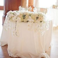 White Orchid Sweetheart Table