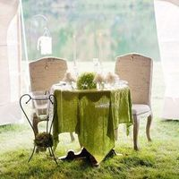 Green Sweetheart Table