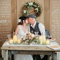 Pretty Rustic Sweetheart Table