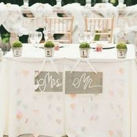 Sweetheart Table with Topiaries