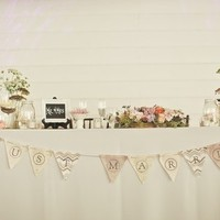 Sweetheart Table with Banner