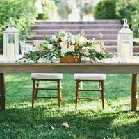 Green Garden Sweetheart Table