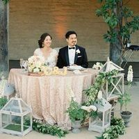 Lovely Sequin Sweetheart Table