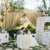 Vintage Doors and Couple's Table