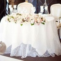 Sheer White Sweetheart Table