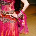 1389992385 thumb photo preview indian weddings bride pink orange lengha bridal gold