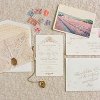 Lace Vintage Wedding Invitations