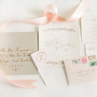 Blush Vintage Wedding Invitations