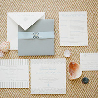 Seashell Beach Wedding Invitations