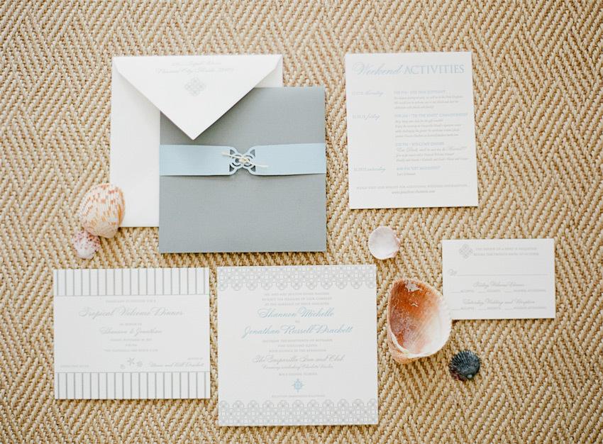 Seashell Beach Wedding Invitations