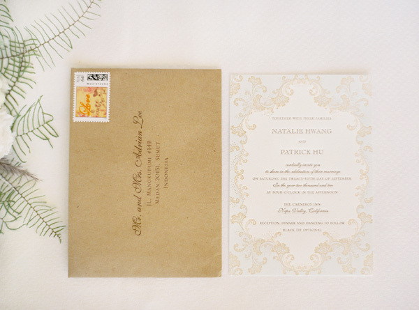 Letterpress Vintage Wedding Invitations