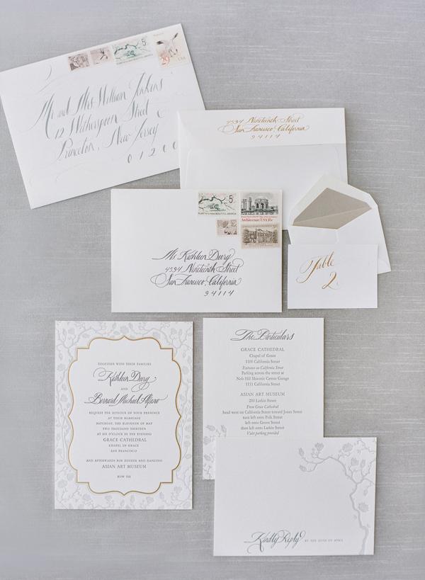 Pale Blue Vintage Wedding Invitations