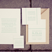 Bold Modern Wedding Invitations