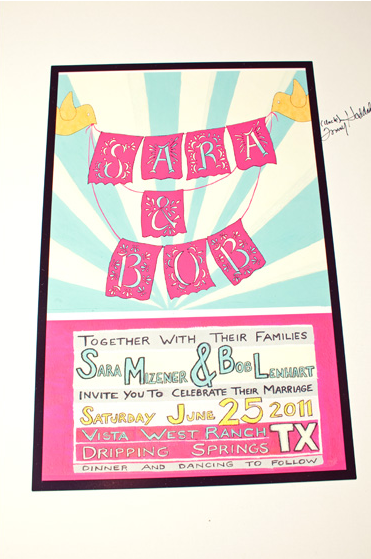 Bright Modern Wedding Invitations