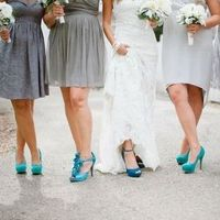 Peacock and Teal Wedding Shoes