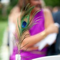 Peacock Feather Aisle Marker