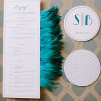 Peacock and White Stationery