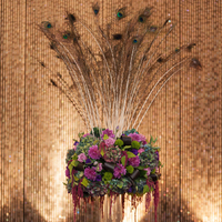 Peacock Floral Arrangement