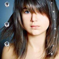 "Crystal Hair Tresses 12"" Diamond"