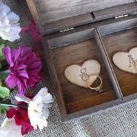 Wedding Ring Box Rustic - Unique Ring Bearer Pillow Alternative - Item 1363