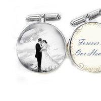 Photo Cufflinks Customize Your Photo Wedding Cufflinks personalized keepsake gift for him guys men father cuff links