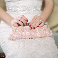 Pink Art Deco Clutch