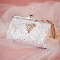 Lace Wedding Clutch