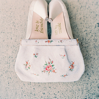 Vintage Floral Wedding Clutch