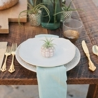 Beach Wedding Place Setting