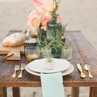 Beach Wedding Table Setting