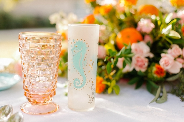 Colorful Beach Wedding Decor