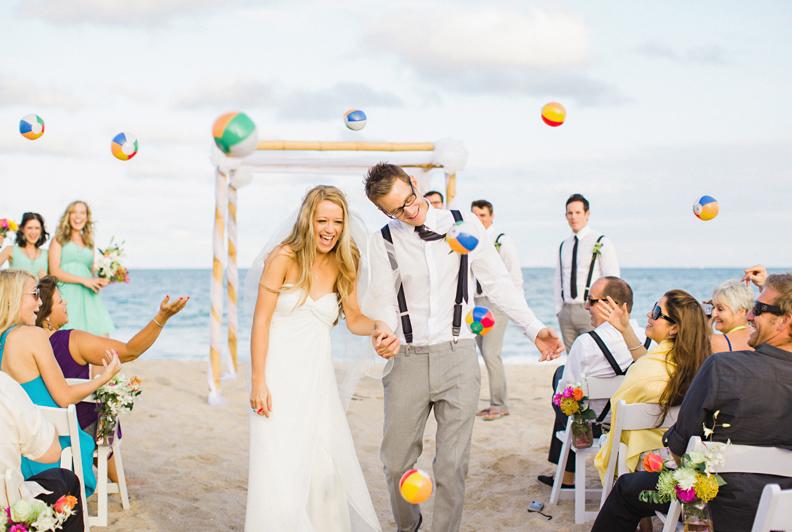 Throwing Wedding Beachballs