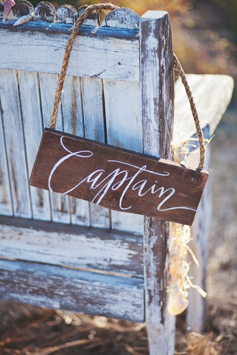 Nautical Wedding Chair Sign