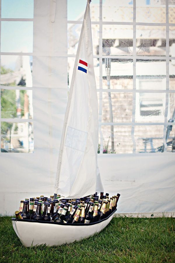 Sailboat Beverage Display