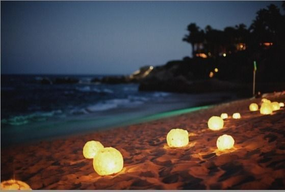 Romantic Beach Wedding Lights