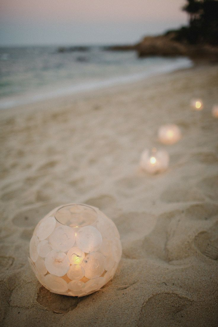 Beach Wedding Globe Lanterns