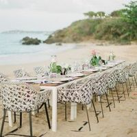 Boho Beach Wedding Reception