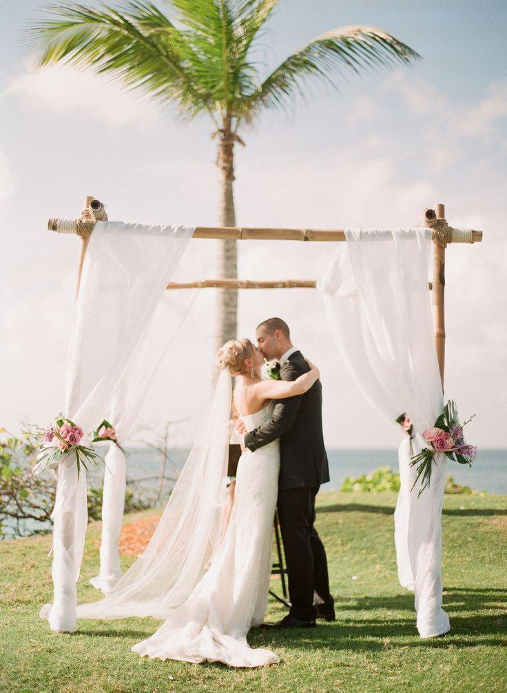 Classic Beach Wedding Altar
