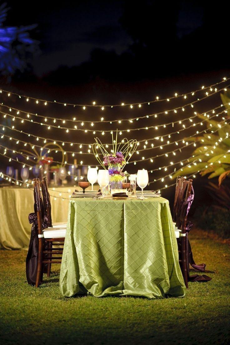 Green Beach Wedding Decor