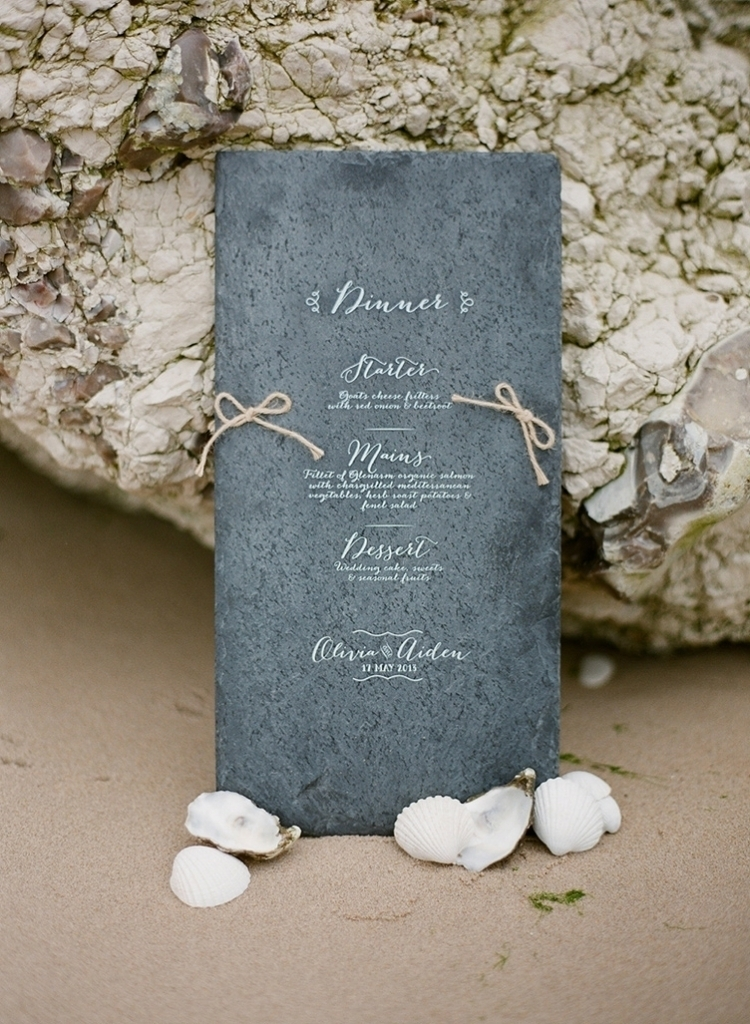 Beach Wedding Menu