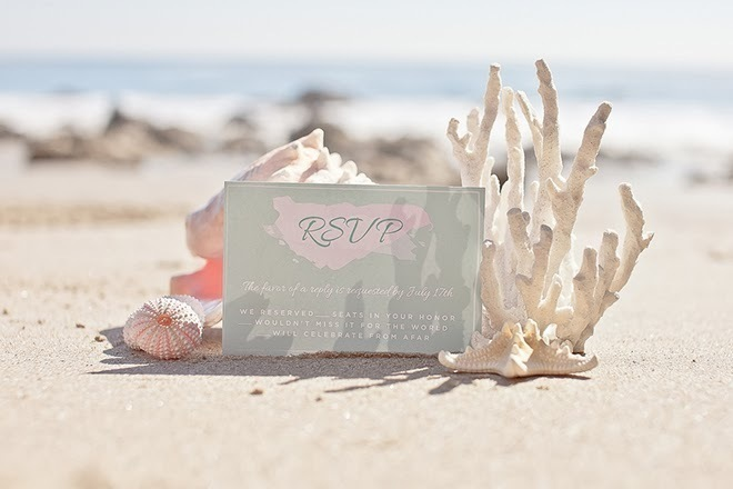 Pretty Beach Wedding Stationery