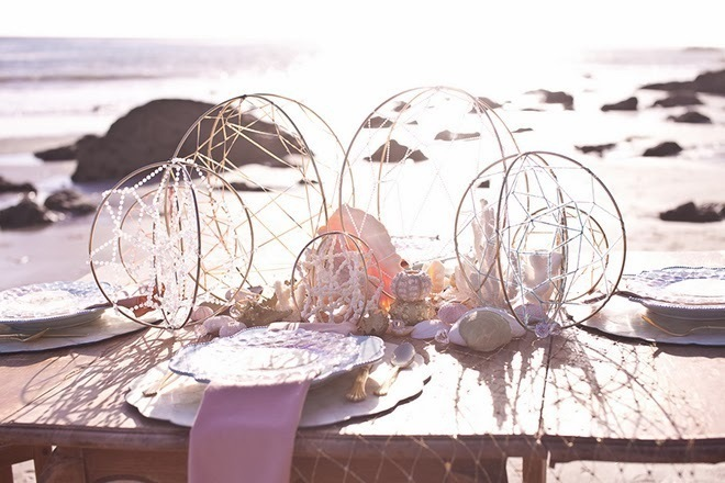 Eclectic Beach Wedding Decor