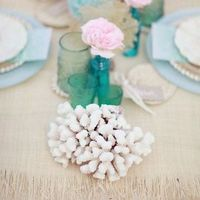 Coral Beach Wedding Decor