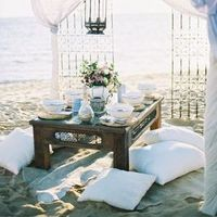 Intimate Beach Wedding Setting