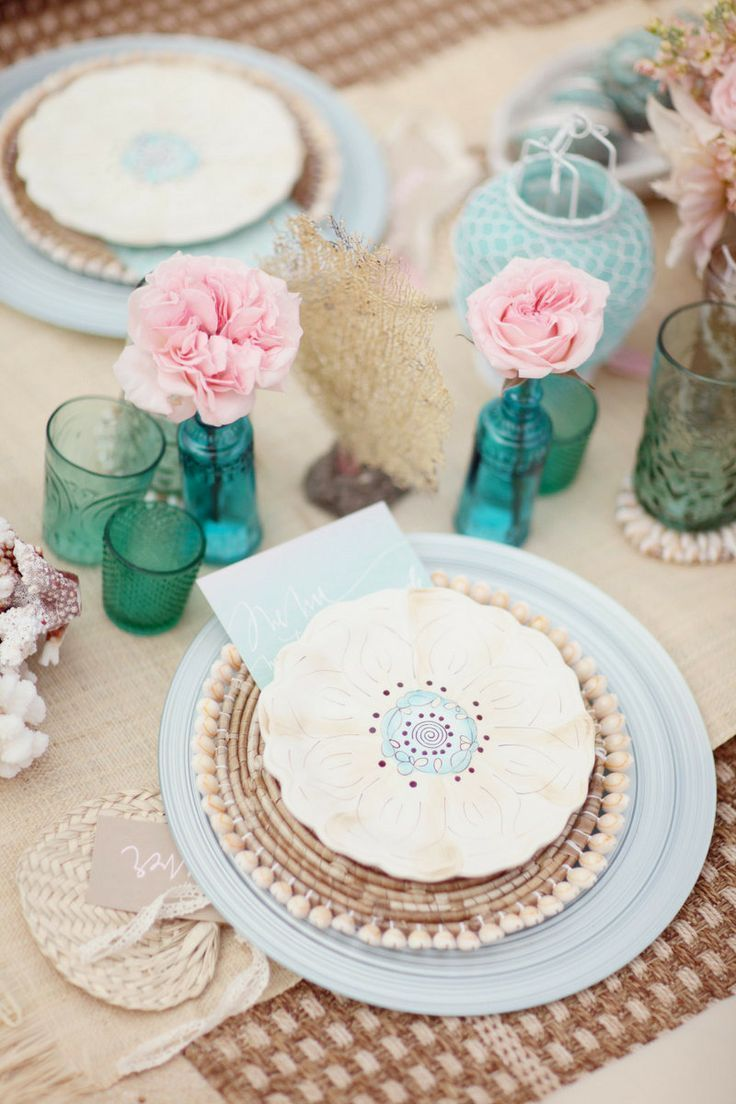 Blue Beach Place Setting