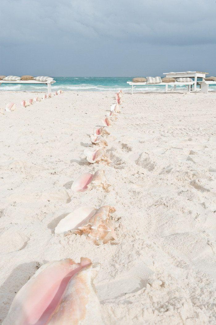 Seashell Aisle Markers