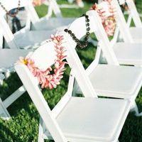 Beach Ceremony Chair Decor