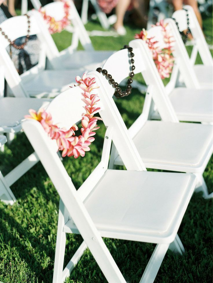 Beach Ceremony Chair Decor