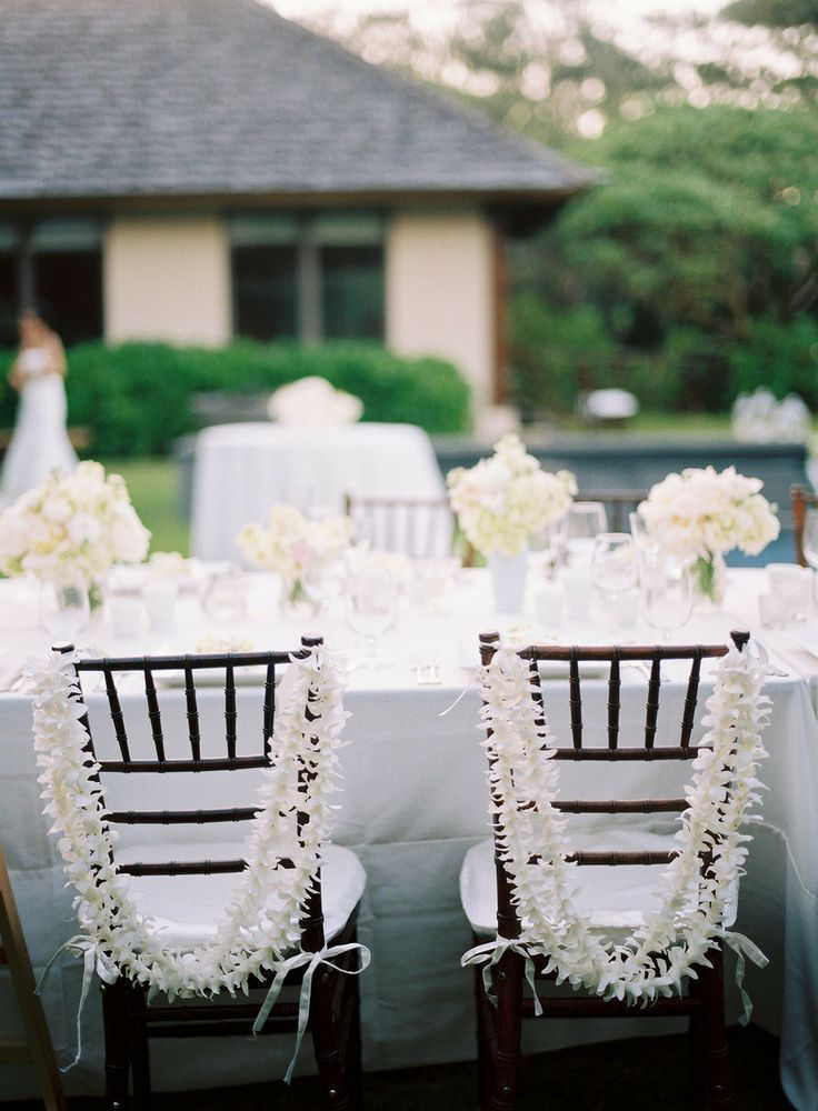 White Chair Leis